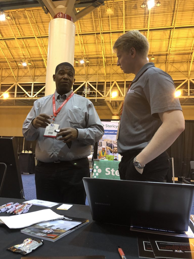 OSI Sales Representative Elliot Rowe at Clean Gulf 2019